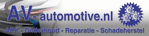Logo van autogarage AV Automotive in Zoetermeer